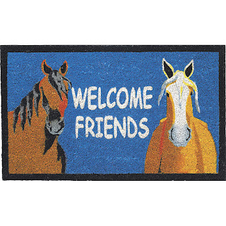 Leslie Anne Webbu0027u0027s Popular Image Welcome Friends Is A Natural For This  Friendly Doormat That Will Welcome Your Guests And Have Them Smiling Before  They ...