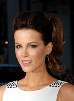 Kate Beckinsale in a little white dress
