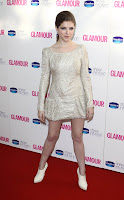 Anna Kendrick little cream dress