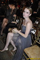 Emma Roberts grey dress