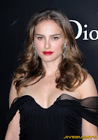Natalie Portman Black in a long black dress