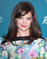 Katie Holmes little blue dress