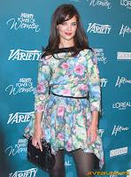 Katie Holmes little blue dress