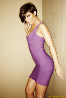 Frankie Sandford purple dress