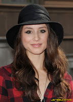 Troian Avery Bellisario in black and red
