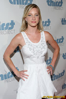 Heather Morris in a sexy little white dress
