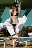 Avril Lavigne black bikini candids
