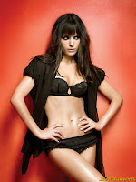 Jordana Brewster in black silk panties and bra
