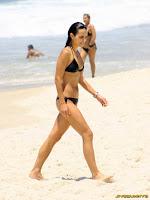 Jordana Brewster candids in a bikini