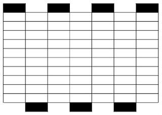 procedemos a ejecutar la primera escala de gris justo al centro de la composicin la que ser creada solo con temperas blanca y negra deber verse como en