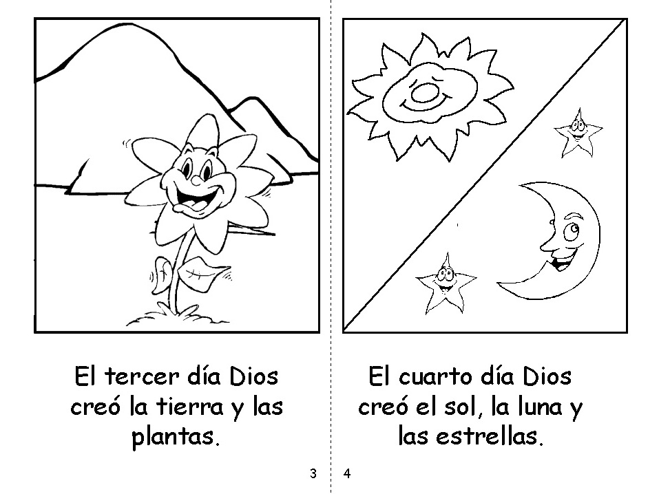 Asombroso Historia De La Creación Para Colorear Molde - Dibujos Para ...