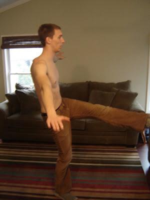 Balance exercise for climbing