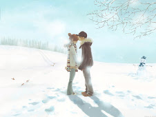 Couples In Love on a snow
