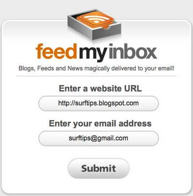 Feed My Inbox, RSS-feed to mailbox
