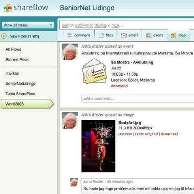 Shareflow för kommunikation