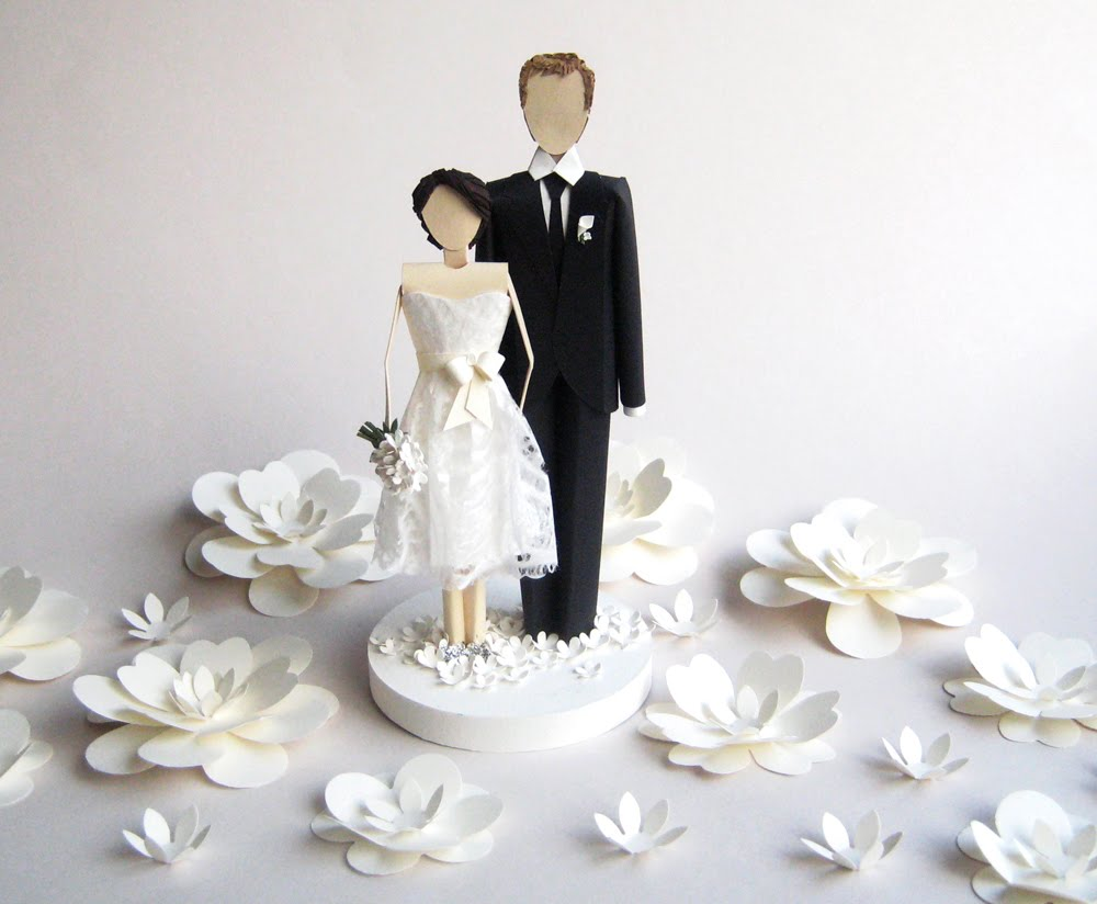 Concarta: Paper sculpture cake toppers for weddings, anniversaries ...