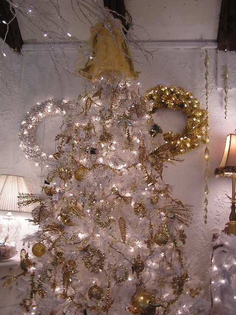 Kathy K. Picture of White and Gold Tree