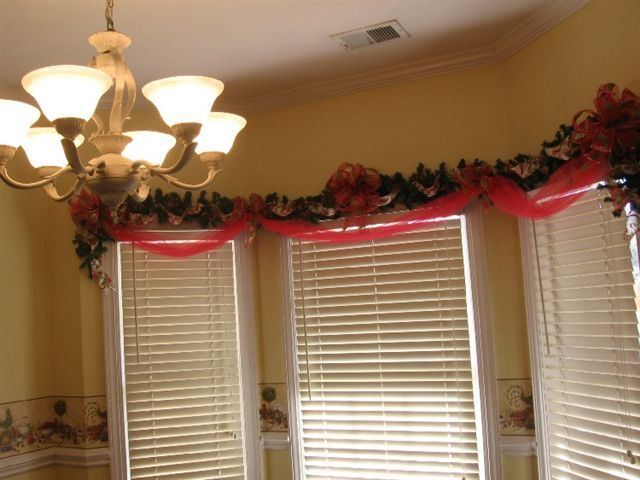 Garland Over Window by Melody