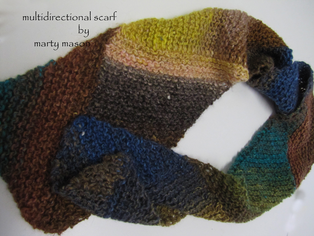 Martys Fiber Musings: Multidirectional Diagonal Knit Scarf - heres how