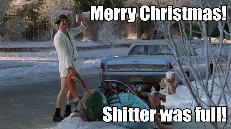 Feet Meet Street: Merry Christmas! Shitter Was Full!