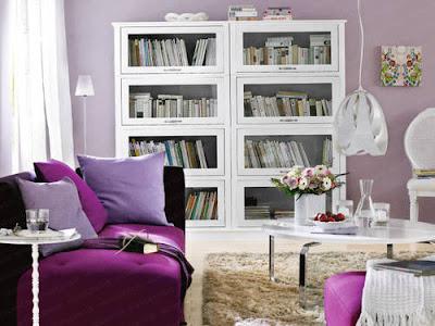 home design purple living room