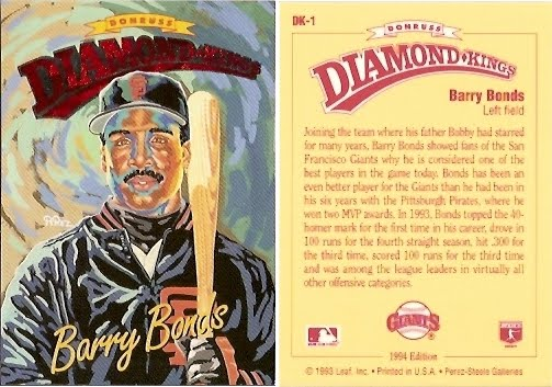 barry bonds rookie card value. DK-1 - Barry Bonds - Diamond