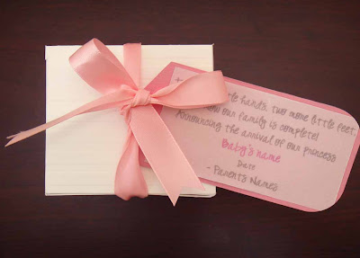 creative box baby girl announcement box
