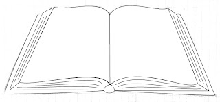 X y z and more for all making of an open book with for Open book coloring page