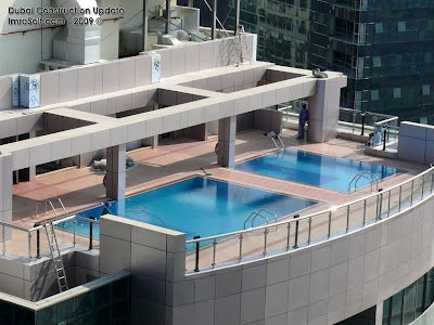 Dubai Construction Update V3 Tower Roof And Swimming Pool Photos Jumeirah Lakes Towers Jlt