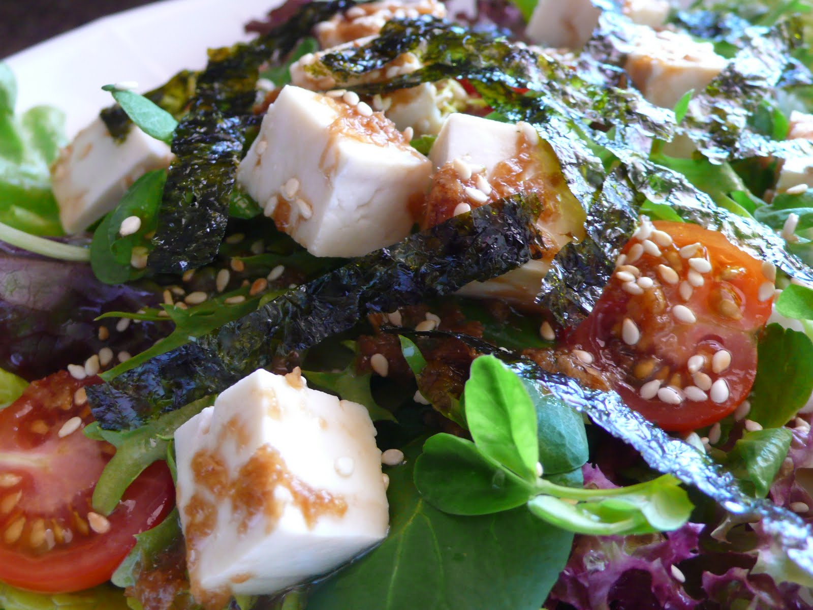 White Tofu, Sesame, And Vegetable Salad Recipes — Dishmaps