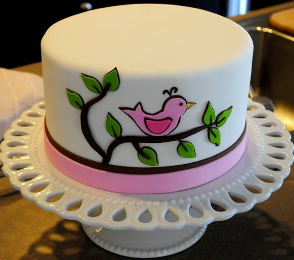 Cute Cake Designs Easy : The Good Apple: Baby Shower Bird Cake