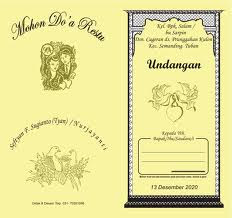 Contoh Undangan Pernikahan Undangan Pernikahan Jaman Dulu
