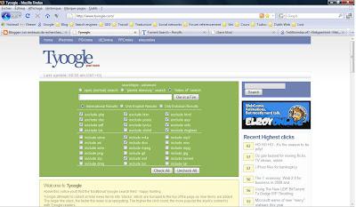 page d accueil de tyoogle