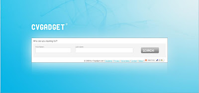 le print screen de la page d'accueil de CV gadget