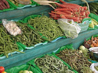 Veggies in Pune street-side vegetable vendor