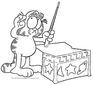 Printable Coloring Pages Garfield Coloring Pages