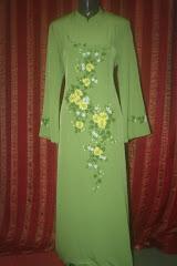 jubah sulam manik hijau