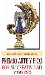 """PREMIO """"ARTE Y PICO"""".            Me ha sido concedido por Kanaima del blog """"La cucharita de azúcar"""""""