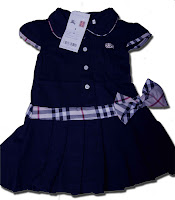 BURBERRY Dress Navy Blue