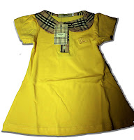 BURBERRY Yellow Cotton Dress