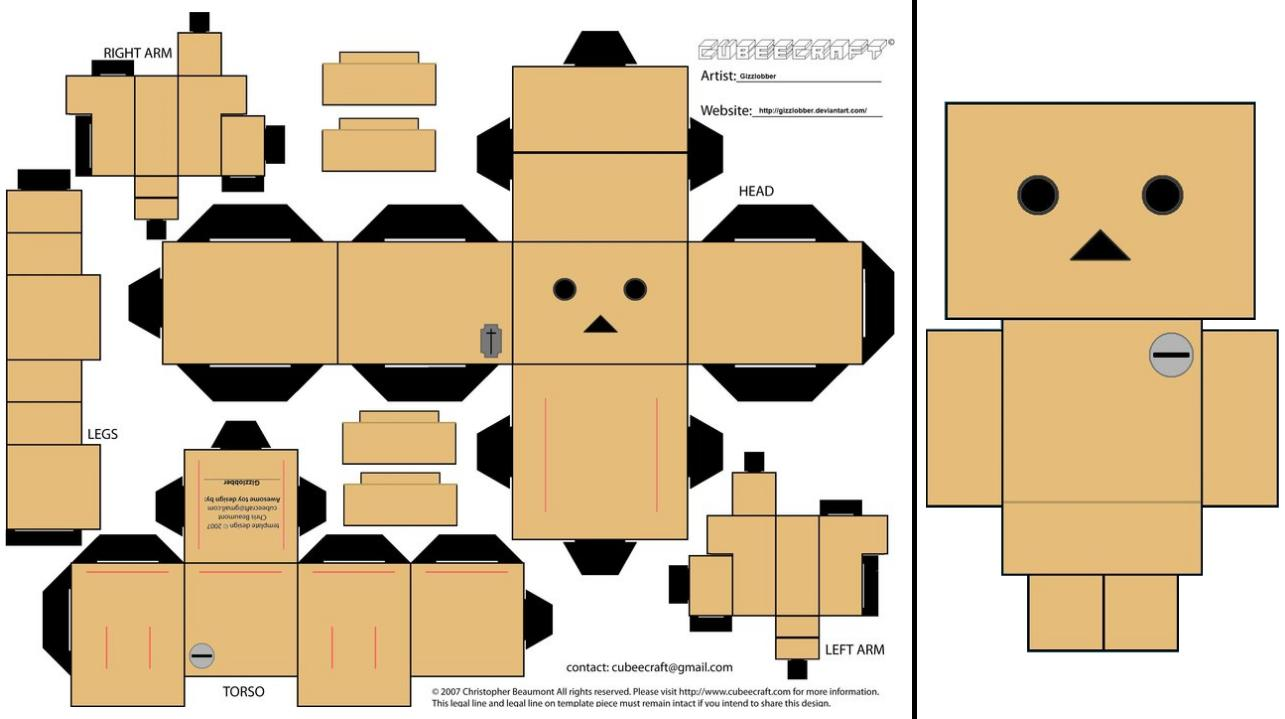 Free Paper Crafts and Models: Danbo Cubeecraft