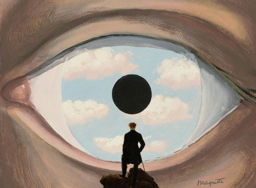 Wanderer paintings for Magritte le faux miroir
