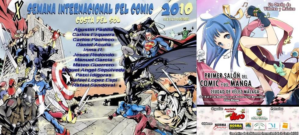 X Salón Internacional del Cómic de Vélez-Málaga 2010. En la Costa del Sol.