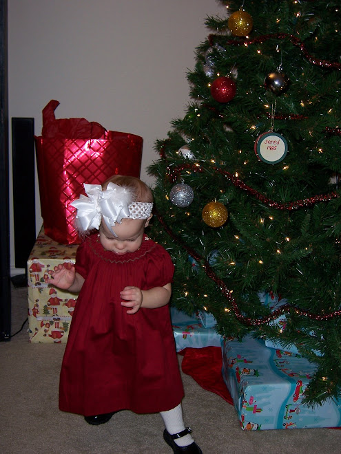Madelyn in her pretty Christmas dress