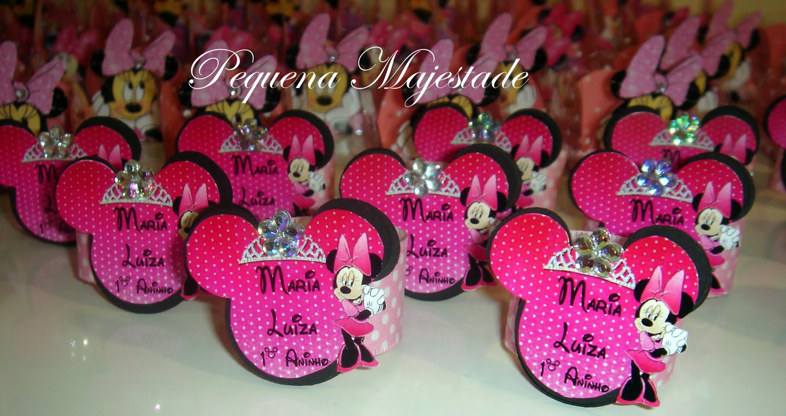 Festa Minnie Rosa  Maria Luiza