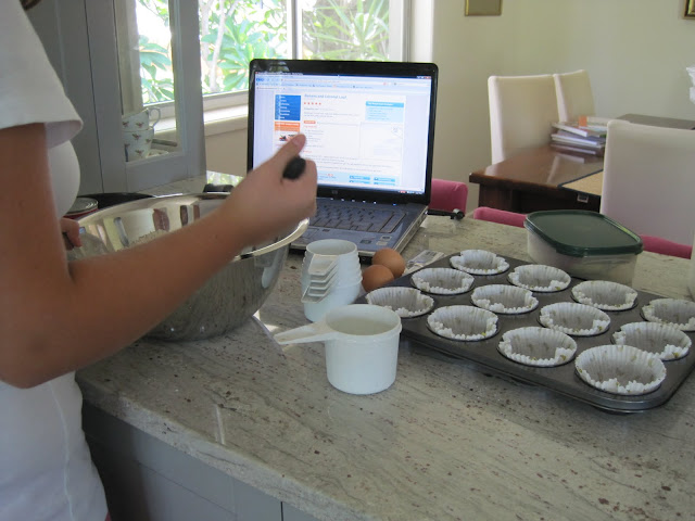 Banana & Coconut Muffin Recipe, Natasha in Oz, cooking image
