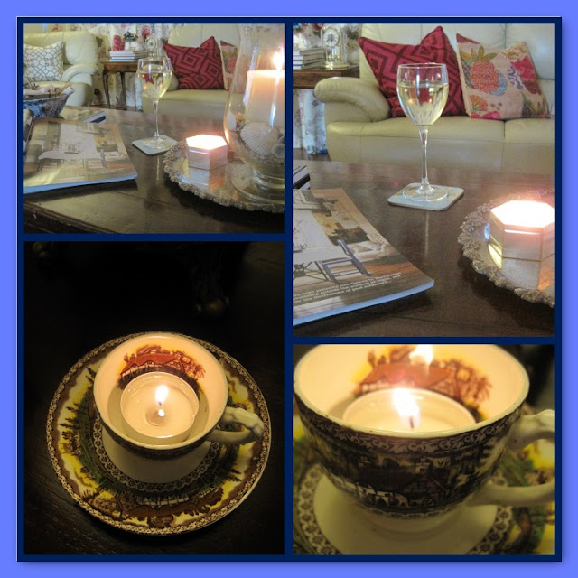Decorating, Home Decor, Tealights in Teacups