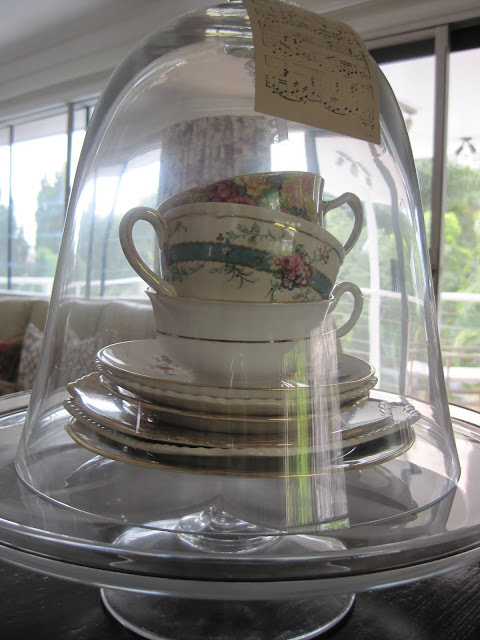 Organizing the Kitchen, Where do I keep my stuff, Natasha in Oz, cloche, tea cups
