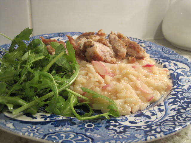Rosemary chicken, Radish and mascarpone risotto recipe, Natasha in Oz