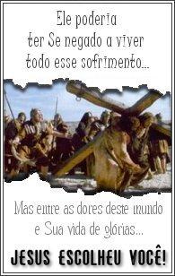 (...)O castigo que nos traz a paz estava sobre Ele,e pelas suas pisaduras ,fomos sarados.